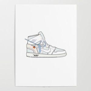 Society6 Jordan x Off-White II Poster 18 x 24